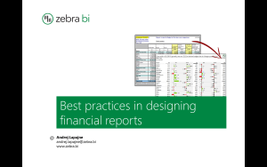 Best practices in designing financial reports webinar