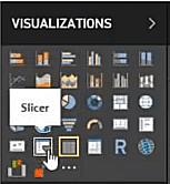 Inserting slicer in Power BI