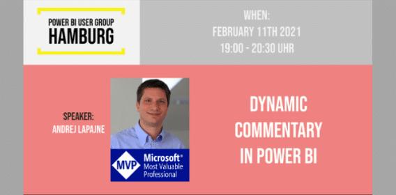 Power BI User Group Meetup Hamburg event