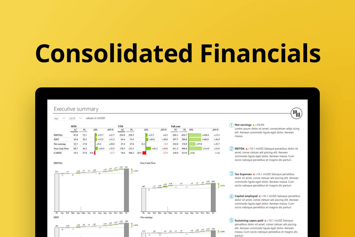 financial report dashboard example power bi zebra bi